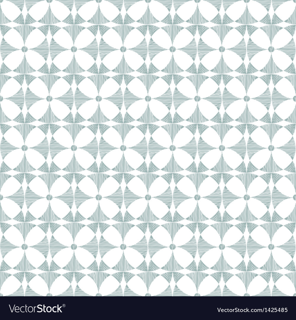Geometric gray ikat seamless pattern background vector | Price: 1 Credit (USD $1)