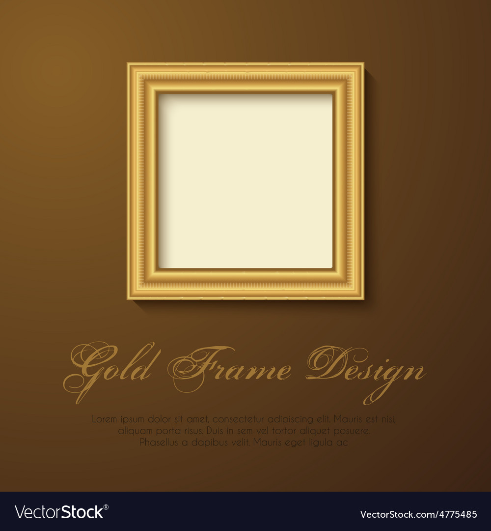 Gold frame for text picture photo or your design vector | Price: 1 Credit (USD $1)