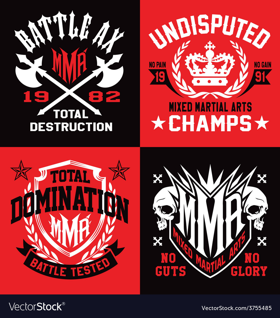 Mma sport emblem graphics vector | Price: 1 Credit (USD $1)