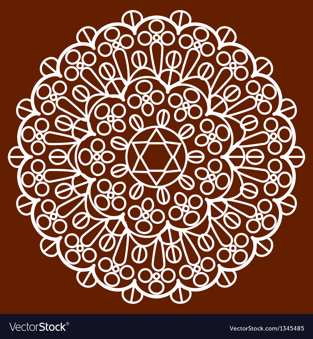 Napkin on brown vector | Price: 1 Credit (USD $1)
