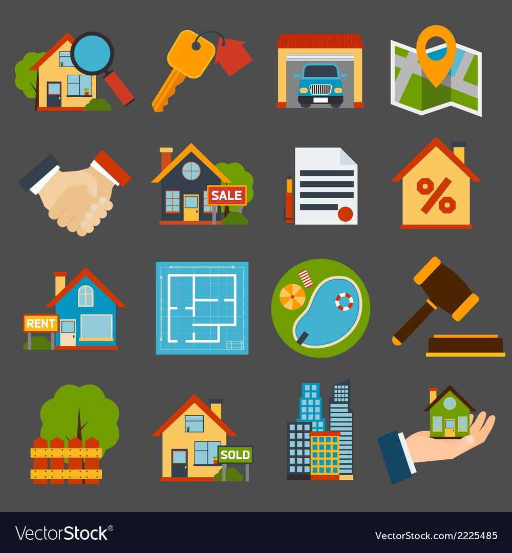 Real estate set vector | Price: 1 Credit (USD $1)