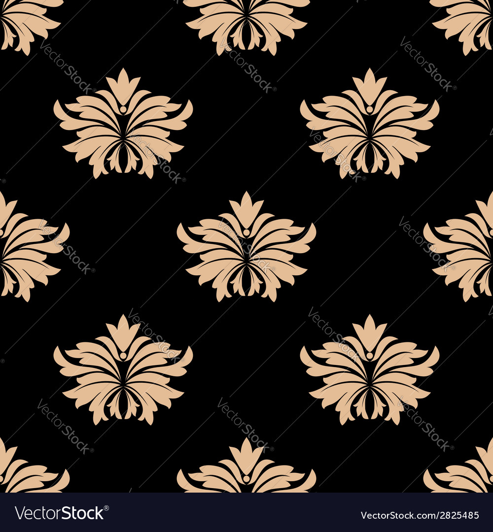 Retro damask seamless pattern vector | Price: 1 Credit (USD $1)