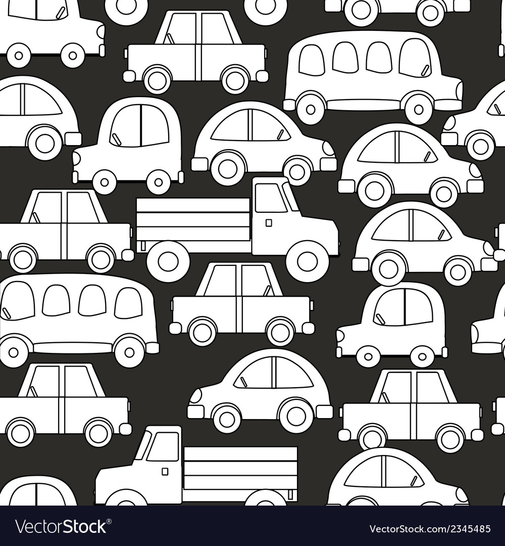 Seamless background of cars vector | Price: 1 Credit (USD $1)
