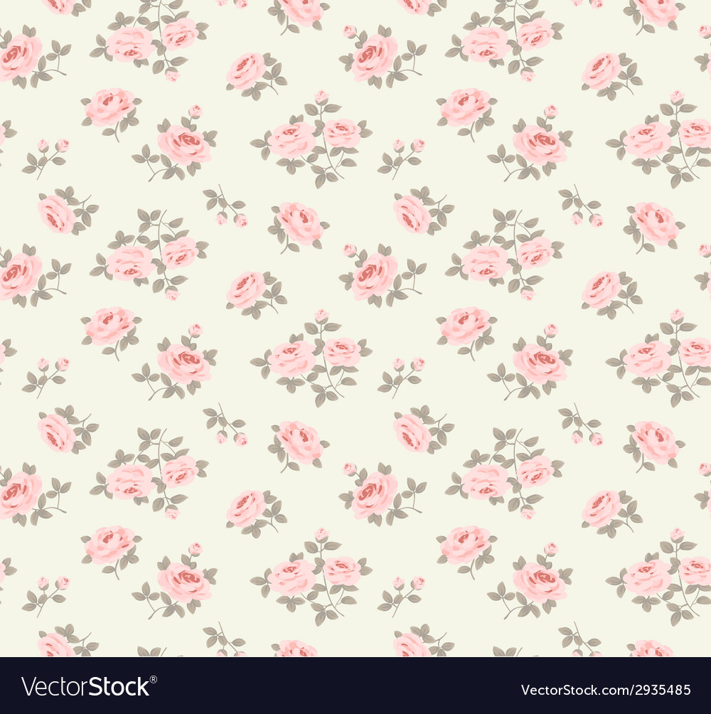 Seamlesspattern with little roses vector