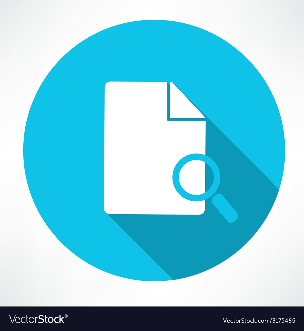 Search document icon vector | Price: 1 Credit (USD $1)