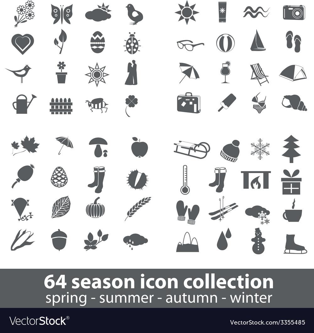 Season icons vector | Price: 1 Credit (USD $1)