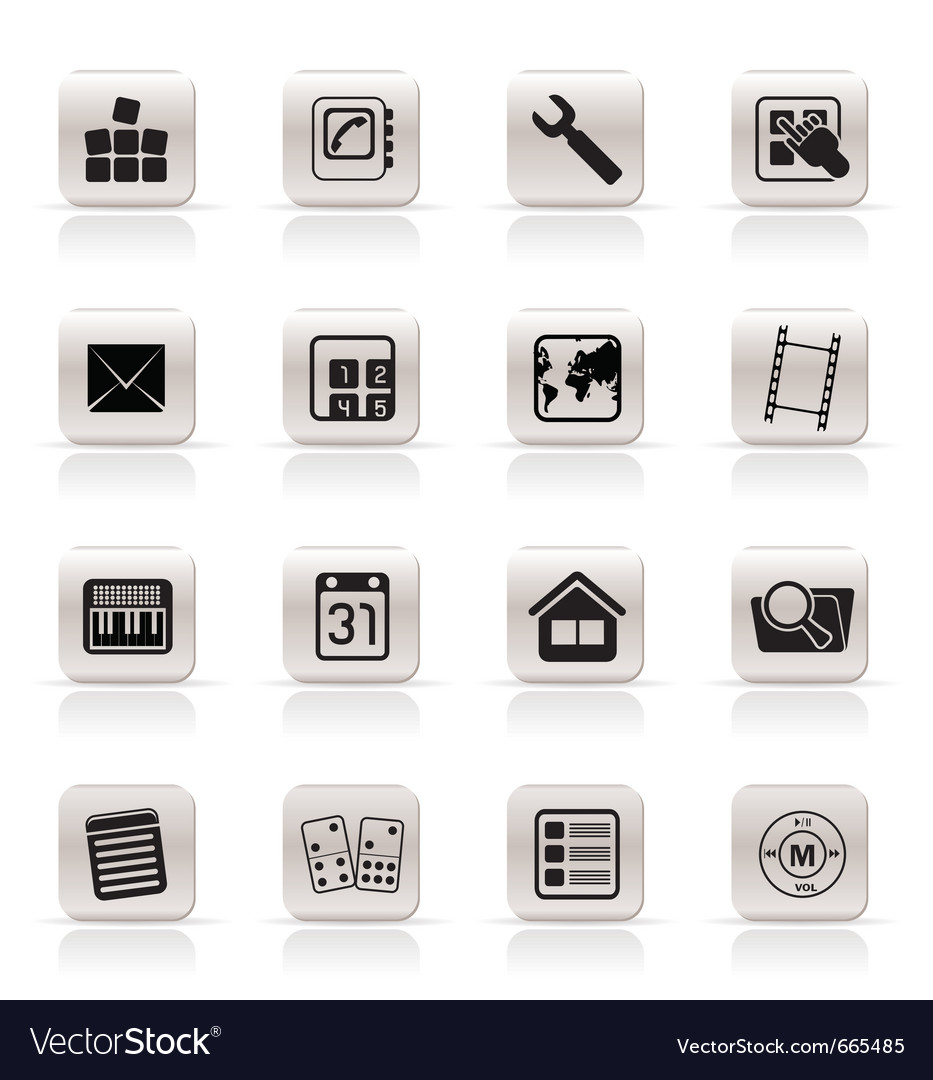 Simple mobile phone and computer icon vector   Price: 1 Credit (USD $1)