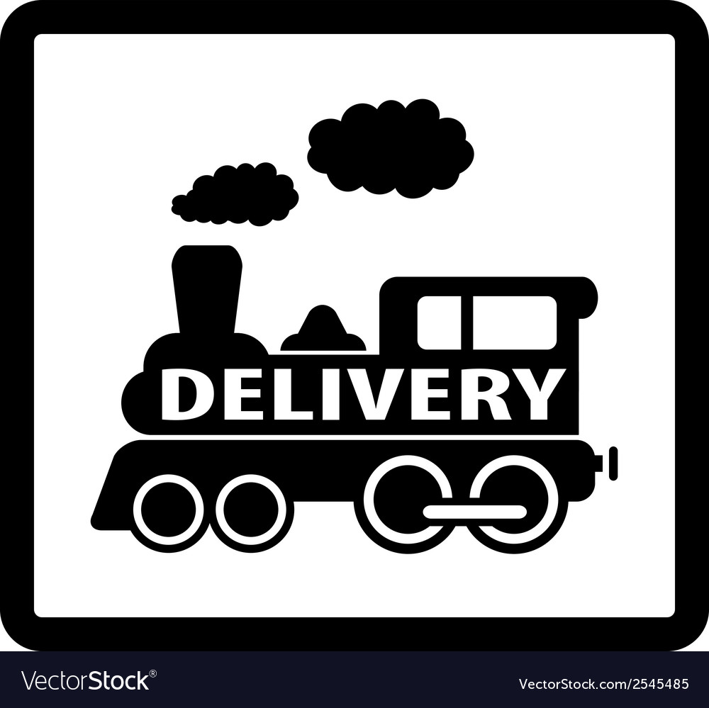 Train delivery icon vector | Price: 1 Credit (USD $1)