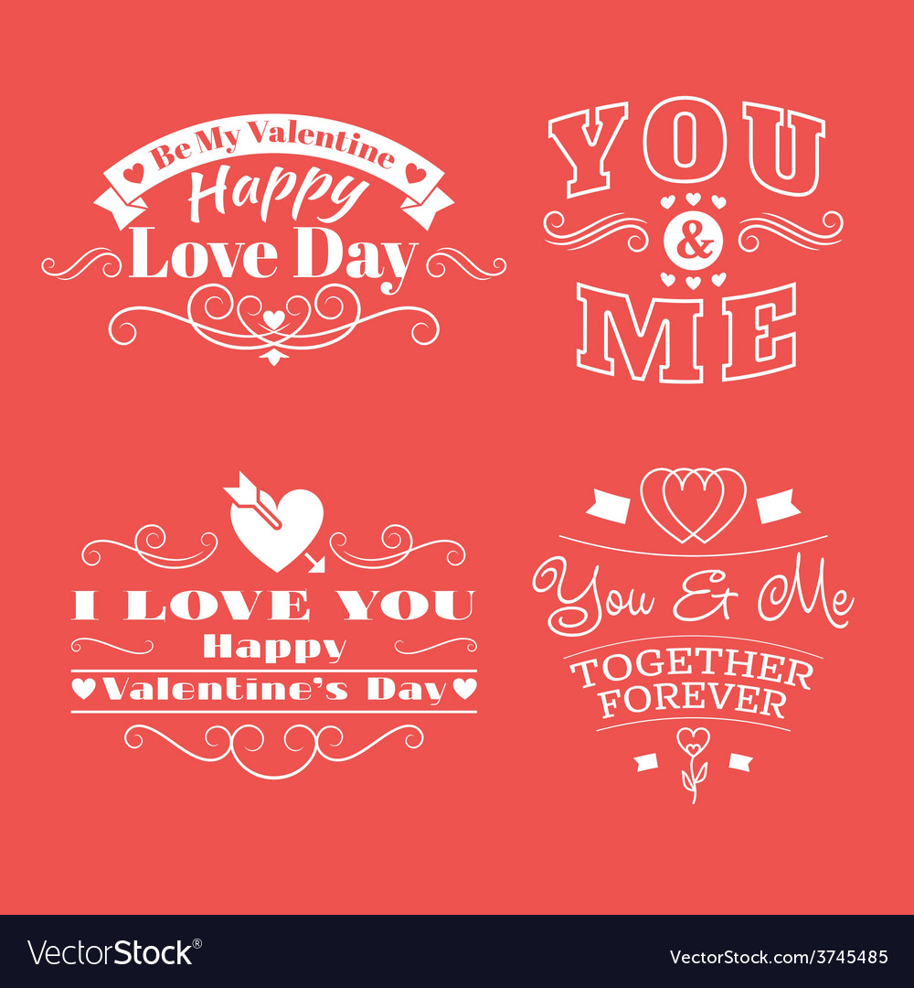 Valentines day set of label badges stamp and vector | Price: 1 Credit (USD $1)