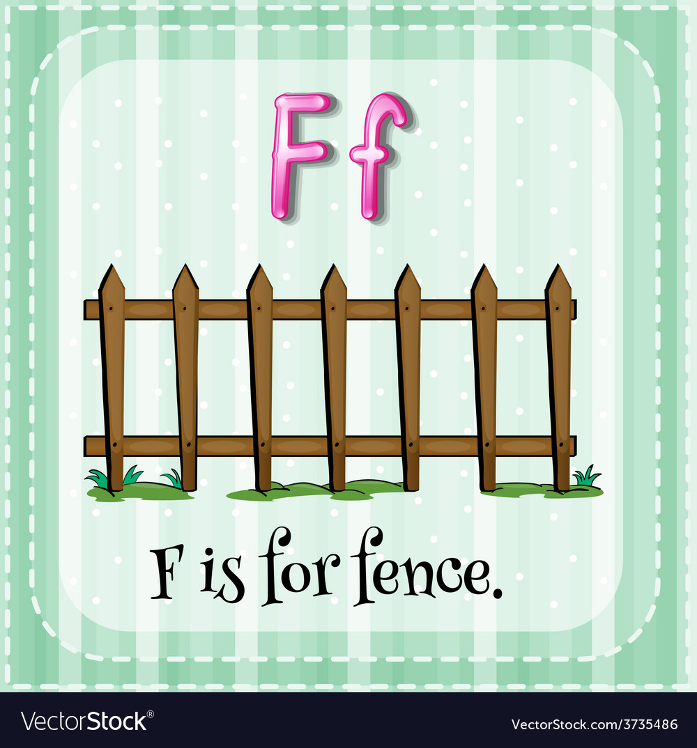 A letter f vector | Price: 1 Credit (USD $1)
