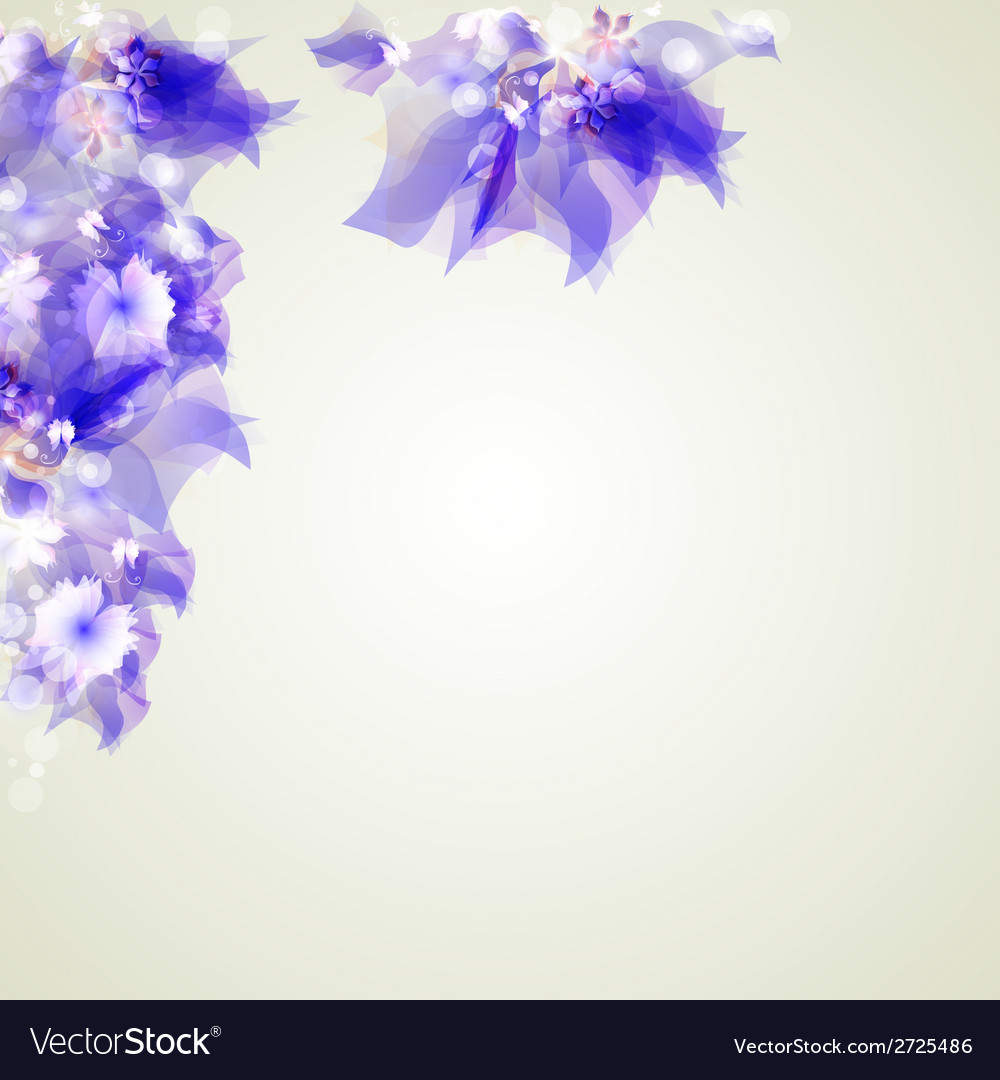 Abstract artistic background with purple floral vector | Price: 1 Credit (USD $1)