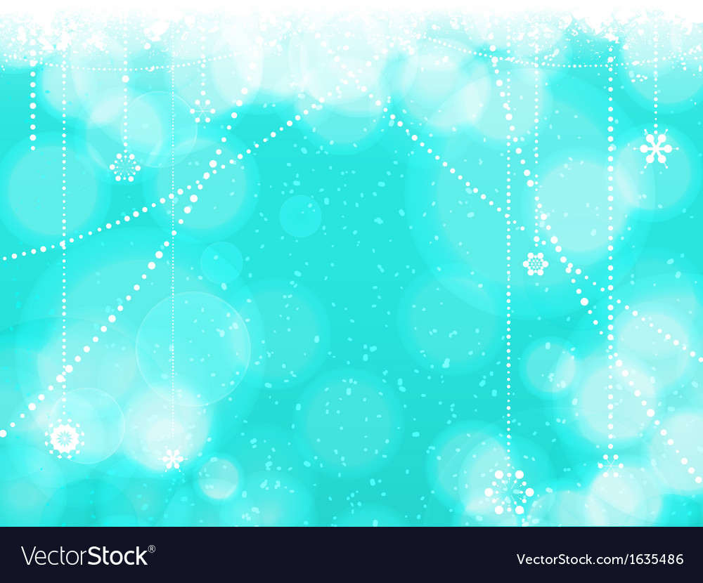 Christmas blue background with hanging stars vector | Price: 1 Credit (USD $1)