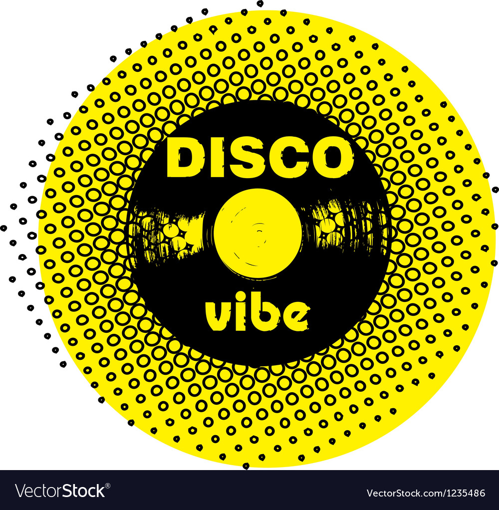 Disco vibe stamp vector | Price: 1 Credit (USD $1)