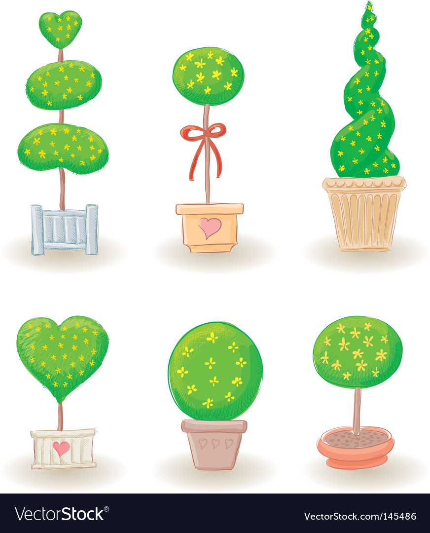 Garden trees vector | Price: 1 Credit (USD $1)