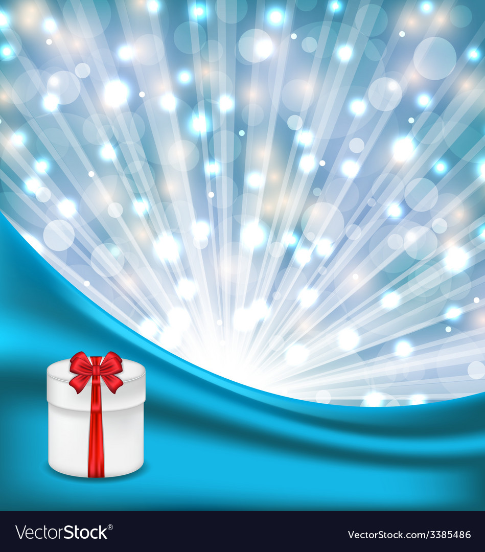 Gift box with red bow on glowing background - vector | Price: 3 Credit (USD $3)