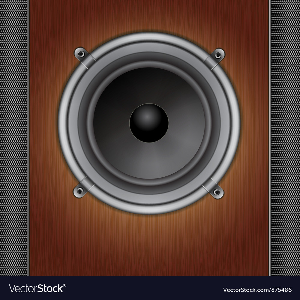 Loud speaker on a wood background vector | Price: 1 Credit (USD $1)