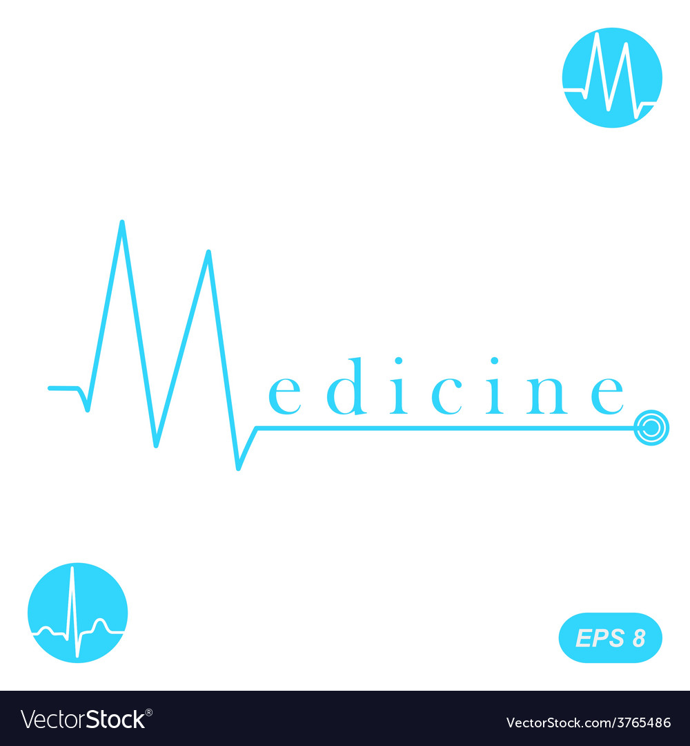 M letter medicine concept template vector | Price: 1 Credit (USD $1)