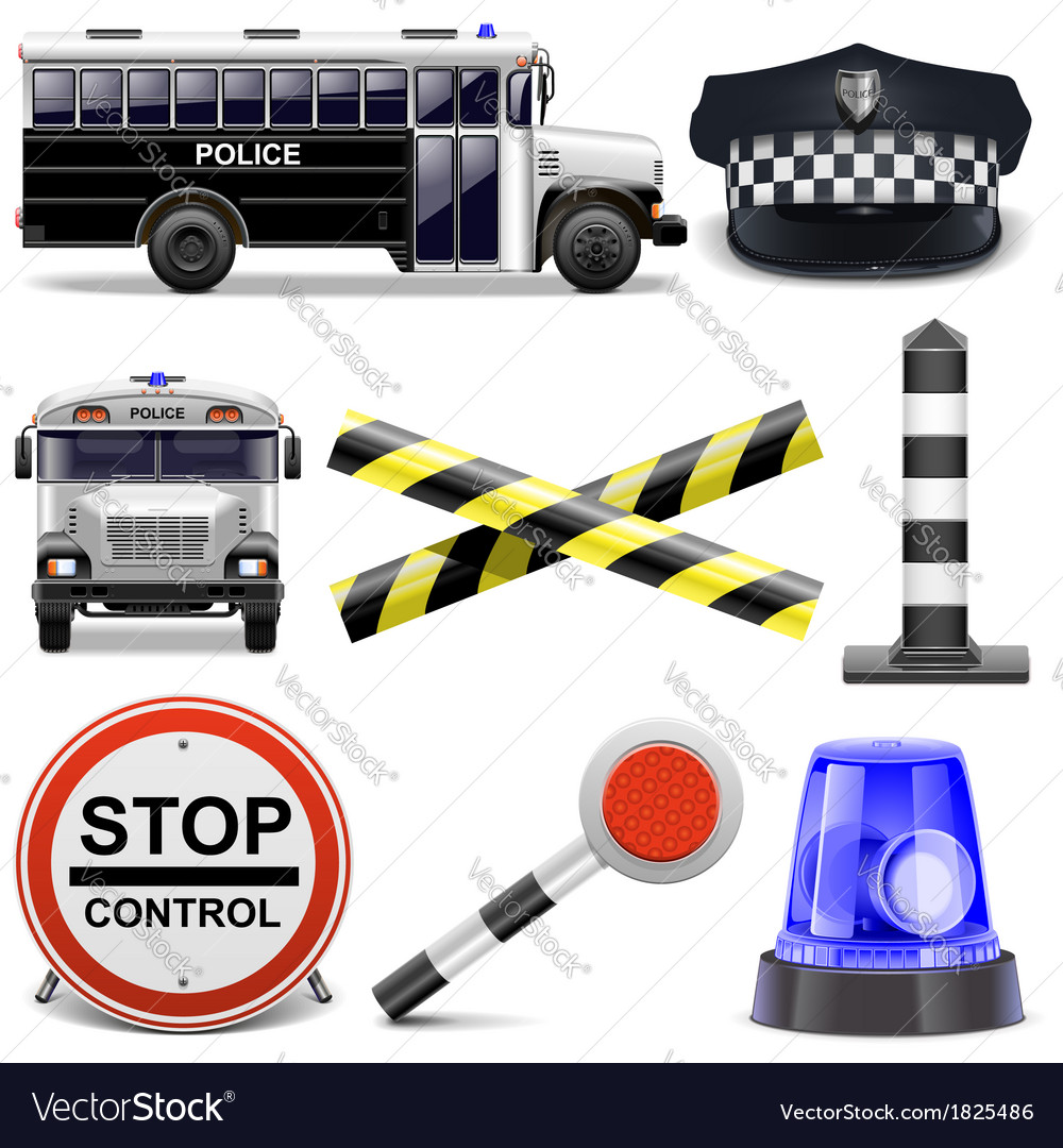 Police icons vector | Price: 3 Credit (USD $3)