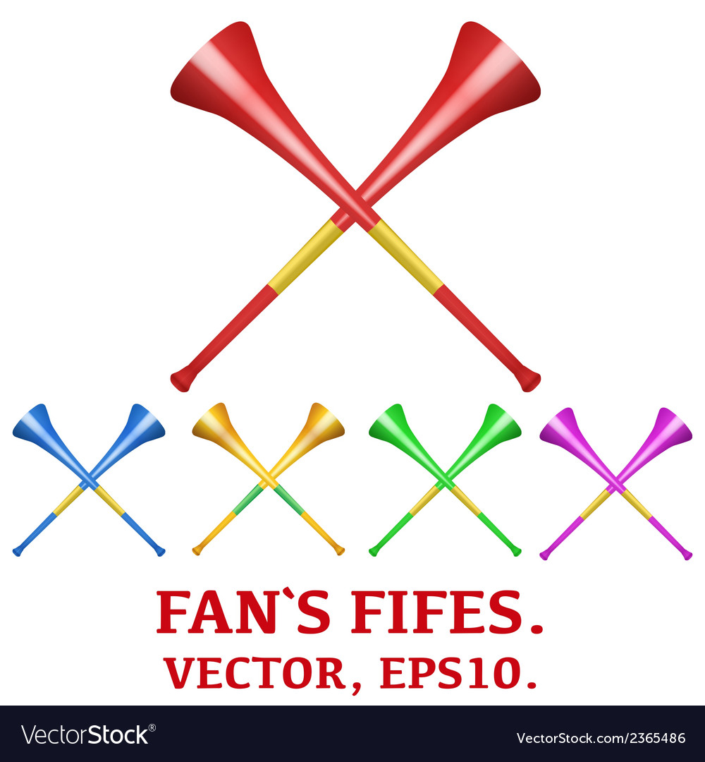 Set of fans pipes to support athletes at vector   Price: 1 Credit (USD $1)