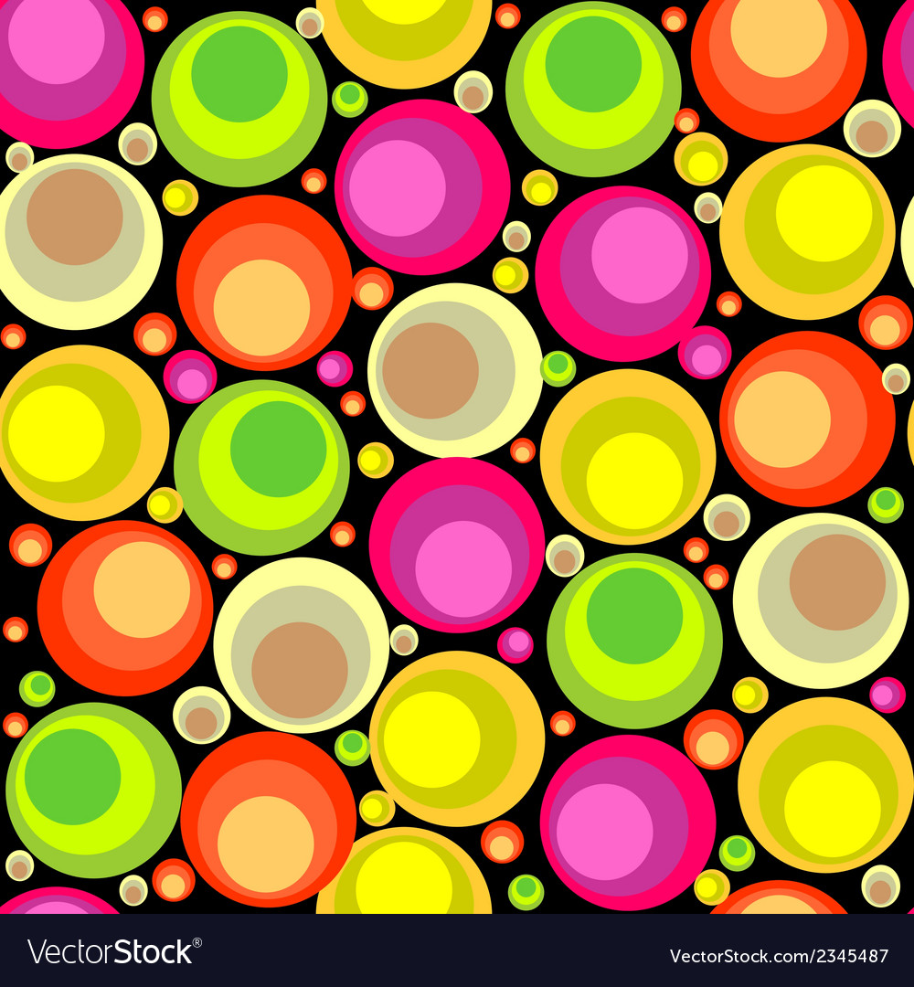 Circles seamless pattern vector | Price: 1 Credit (USD $1)
