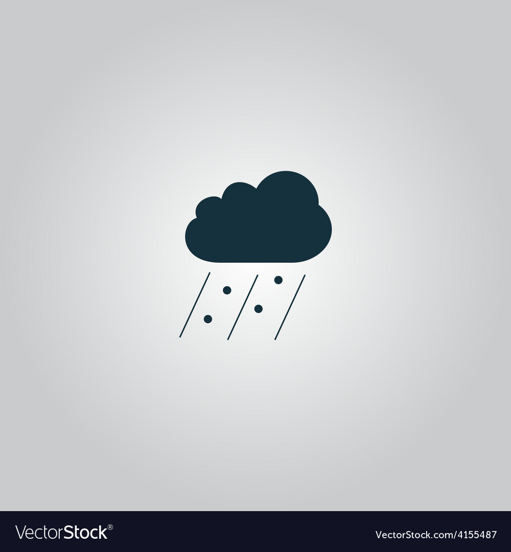 Cloud it is raining and hail vector | Price: 1 Credit (USD $1)