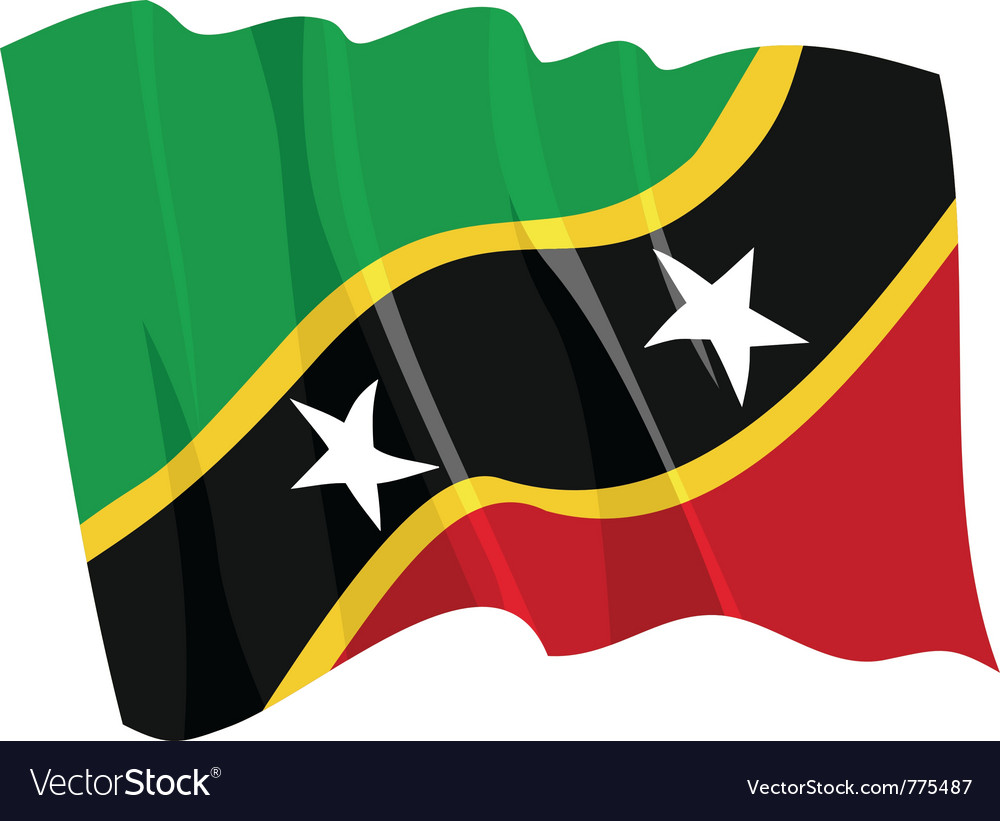 Flag of saint kitts and nevis vector | Price: 1 Credit (USD $1)