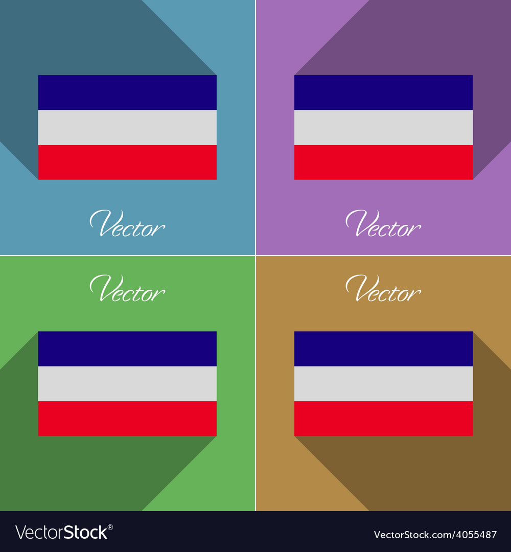 Flags los altos set of colors flat design and long vector | Price: 1 Credit (USD $1)
