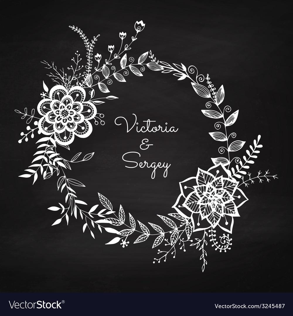 Floral wreath vector | Price: 1 Credit (USD $1)