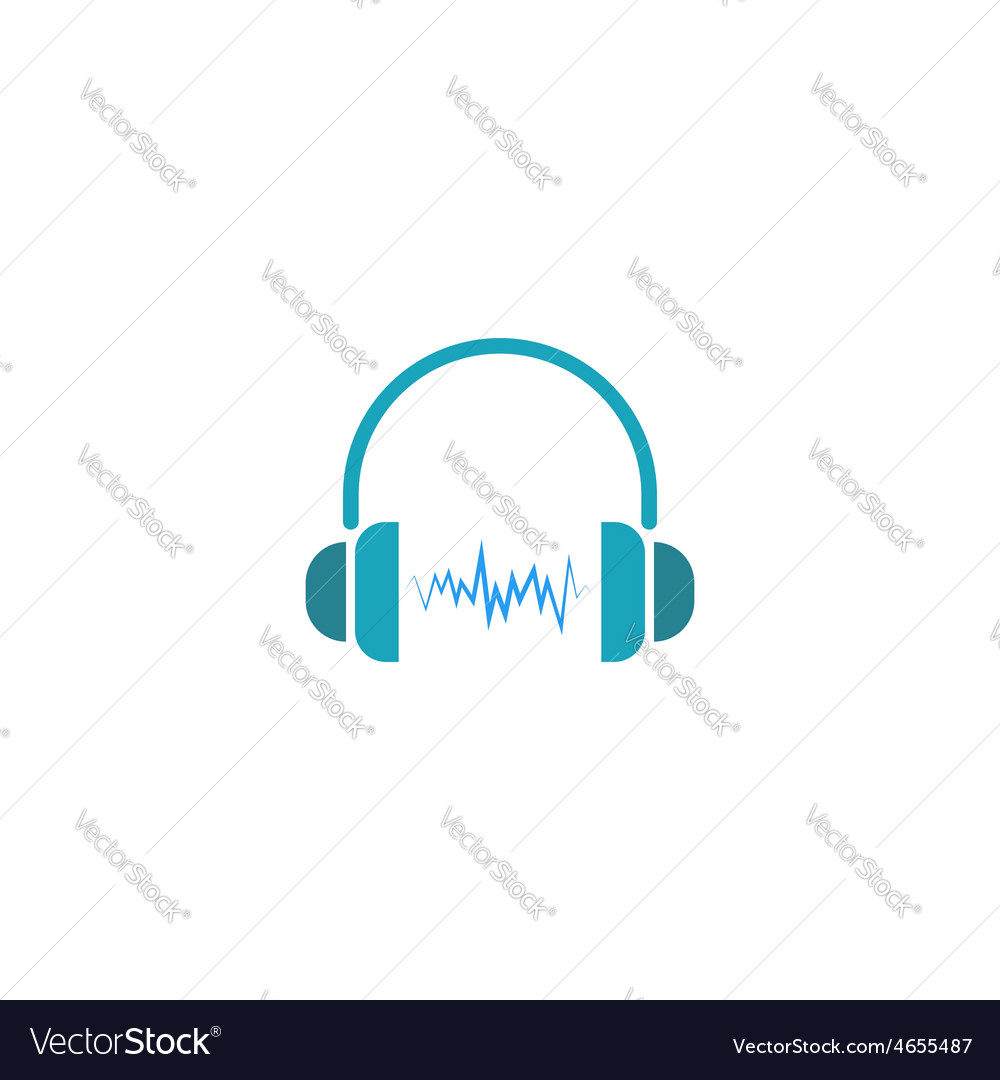Headphones dj logo sound wave of music icon vector | Price: 1 Credit (USD $1)