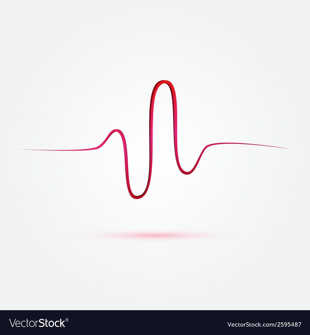 Heart beat cardiogram medical icon vector | Price: 1 Credit (USD $1)