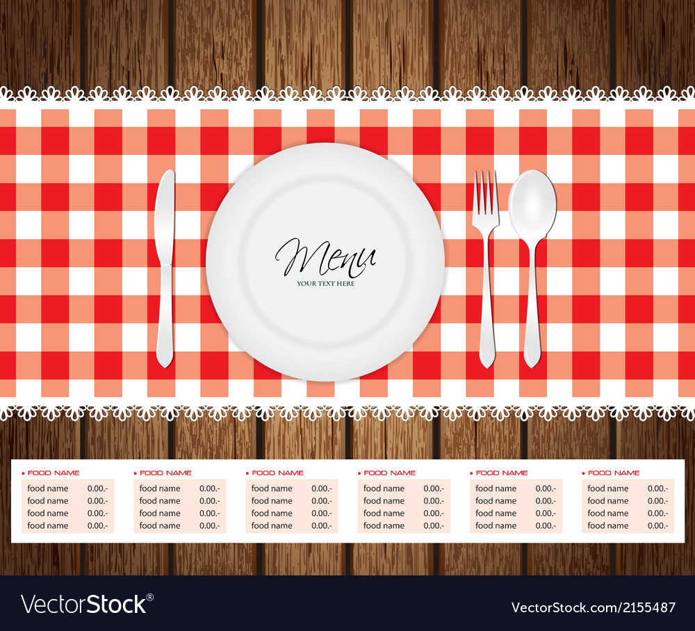 Menu woode beckground vector | Price: 1 Credit (USD $1)