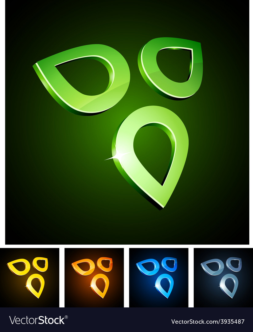 Nature vibrant emblems vector | Price: 1 Credit (USD $1)