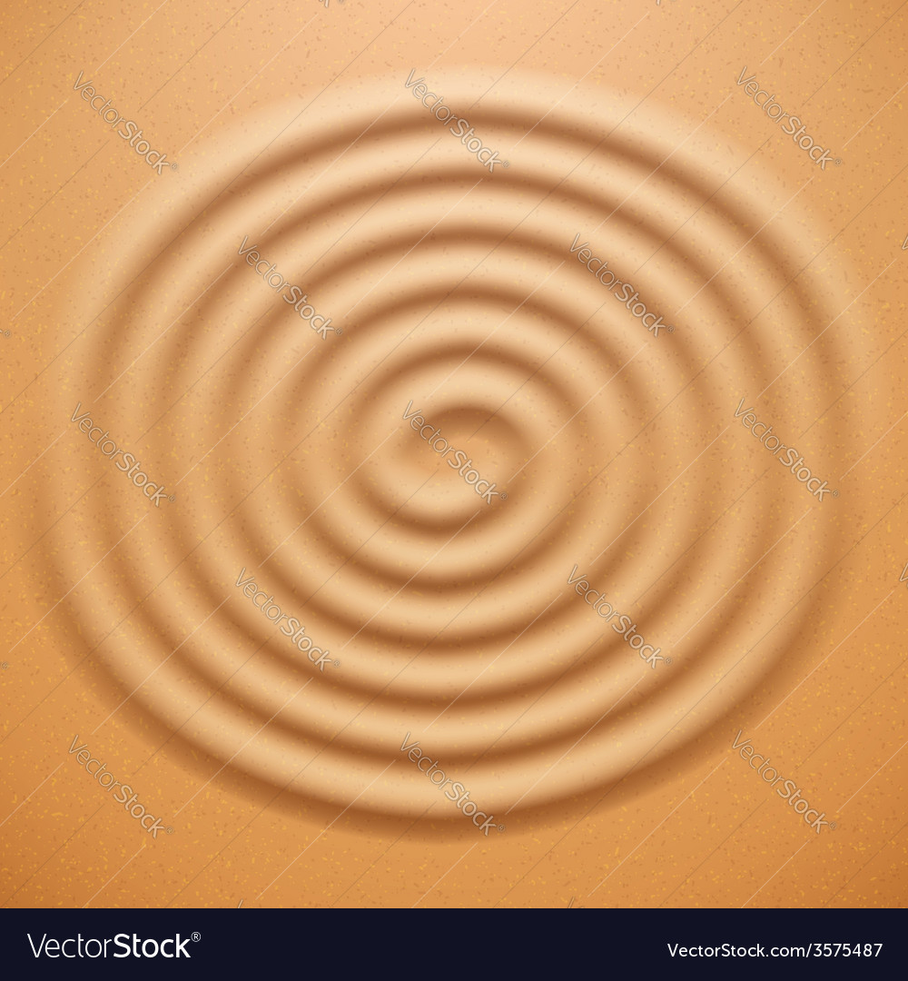 Ripple spiral drawing on the sand vector | Price: 1 Credit (USD $1)