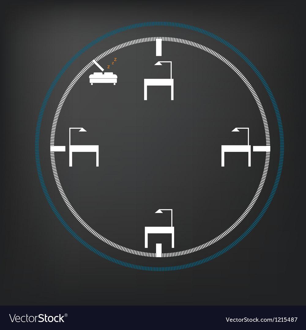 Sleep clock vector | Price: 1 Credit (USD $1)