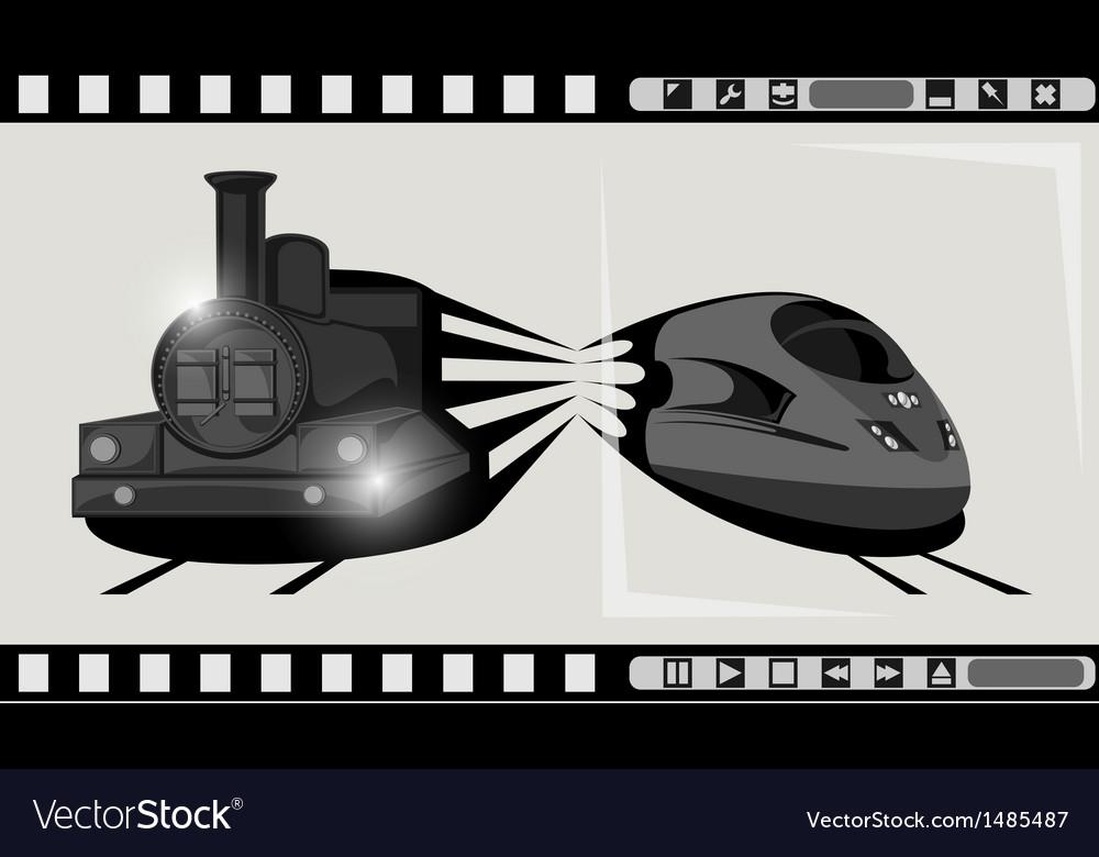 Train film vector | Price: 1 Credit (USD $1)