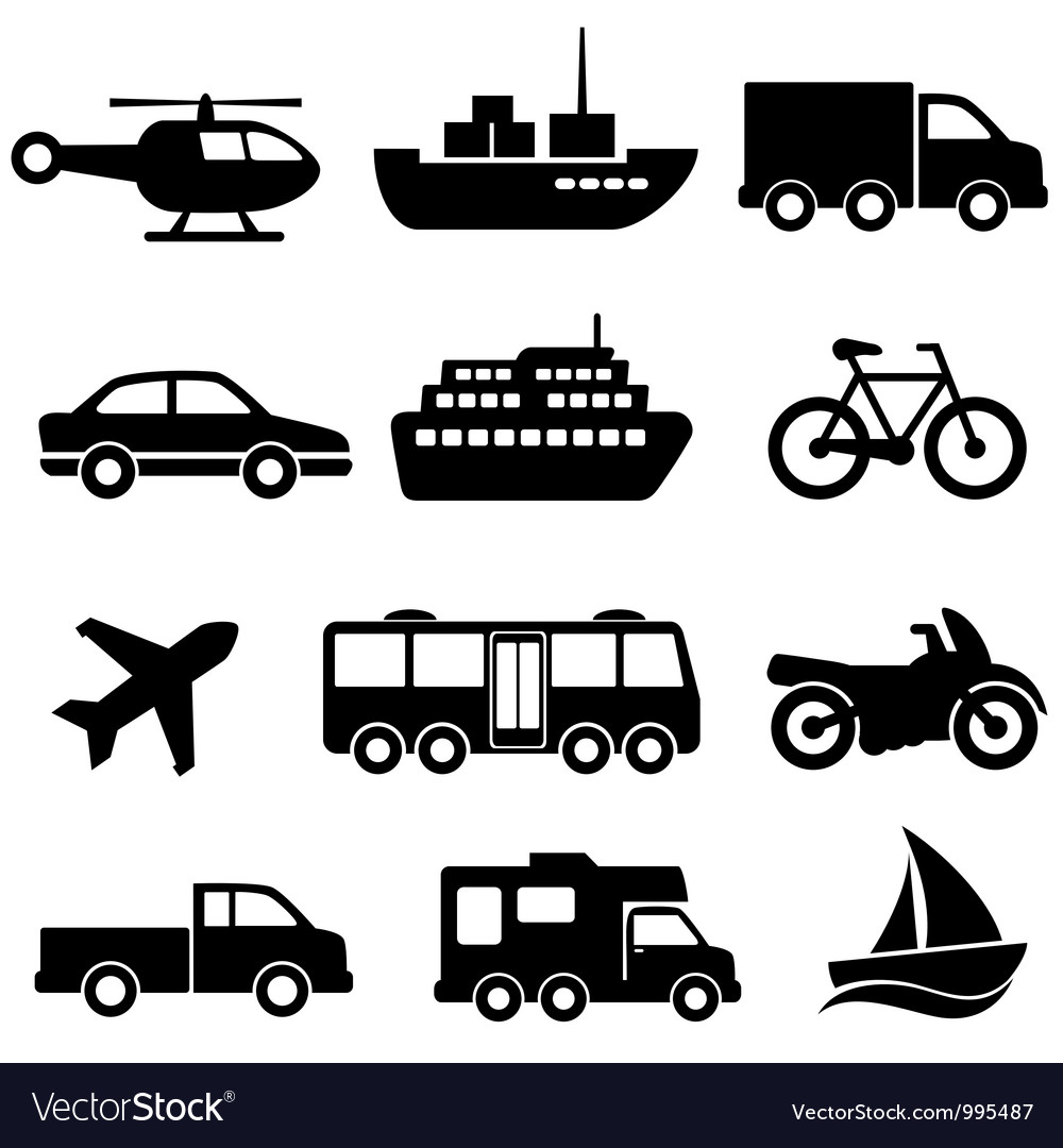 Transport collection set vector | Price: 1 Credit (USD $1)