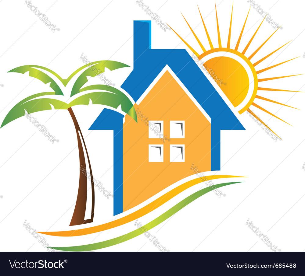 Beach house vector | Price: 1 Credit (USD $1)