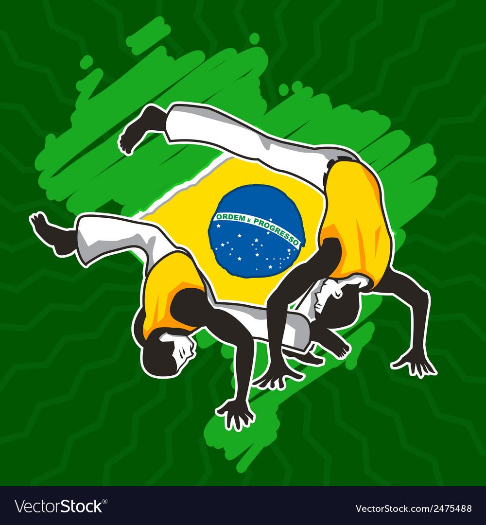 Brazilian martial art capoeira vector | Price: 1 Credit (USD $1)