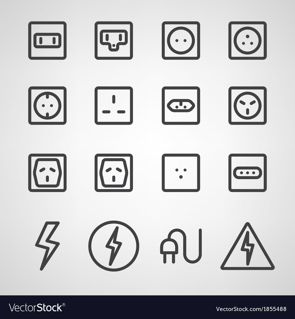 Energy and resource icon set vector | Price: 1 Credit (USD $1)