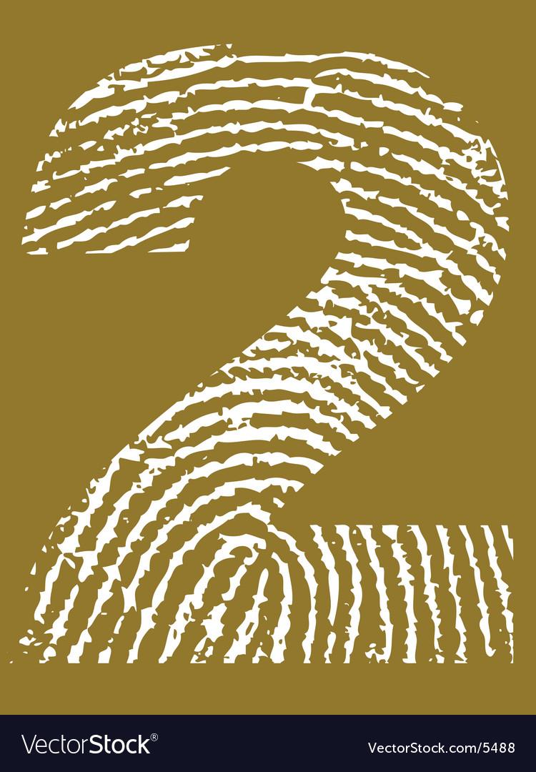 Fingerprint number vector   Price: 1 Credit (USD $1)