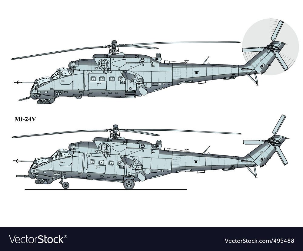 Helicopter mi24 vector | Price: 1 Credit (USD $1)