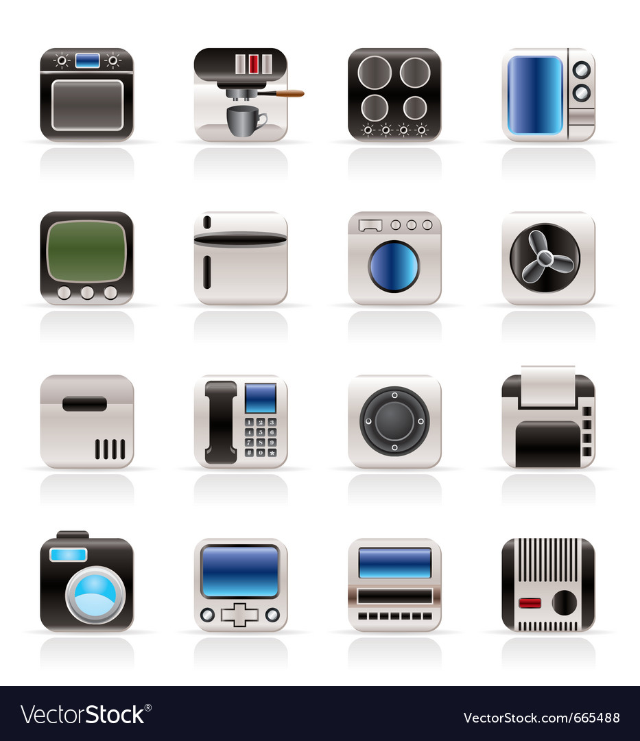 Home and office equipment icons vector | Price: 1 Credit (USD $1)