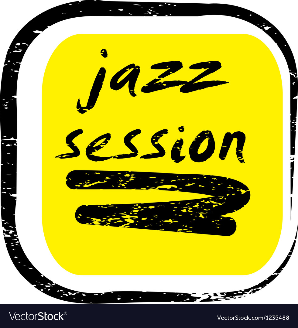Jazz session stamp vector | Price: 1 Credit (USD $1)