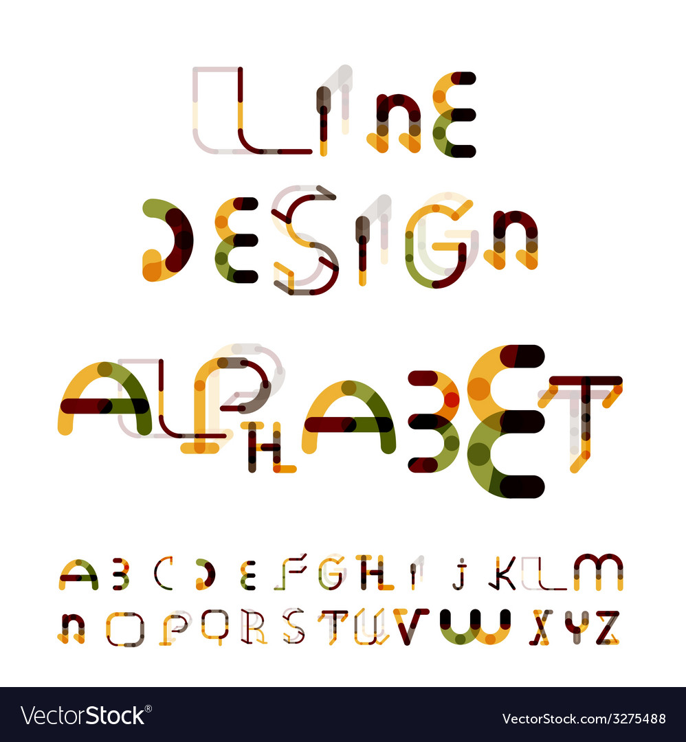 Minimal line design alphabet font typeface vector | Price: 1 Credit (USD $1)