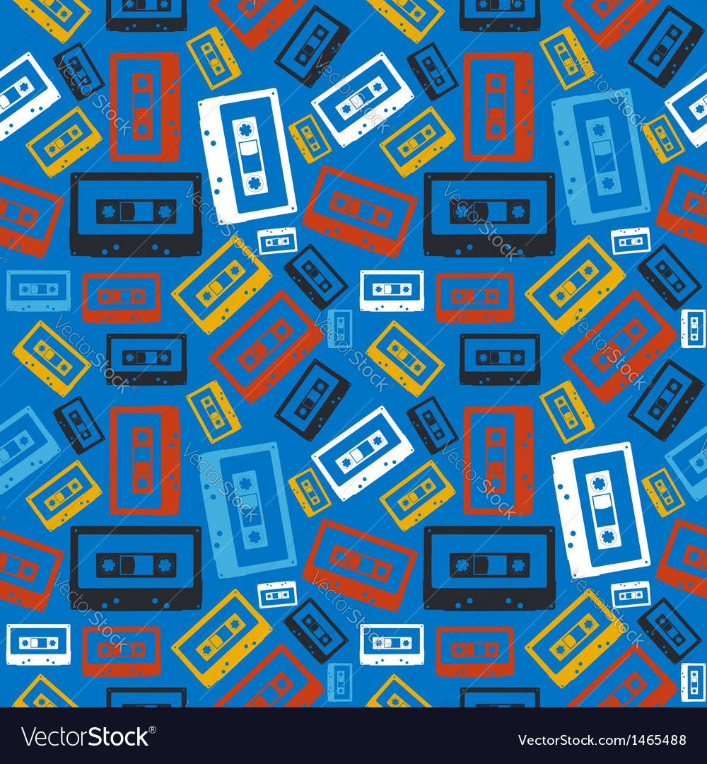 Old audio cassette pattern vector | Price: 1 Credit (USD $1)
