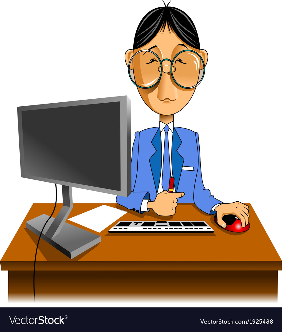 Programmer working with computer vector | Price: 1 Credit (USD $1)