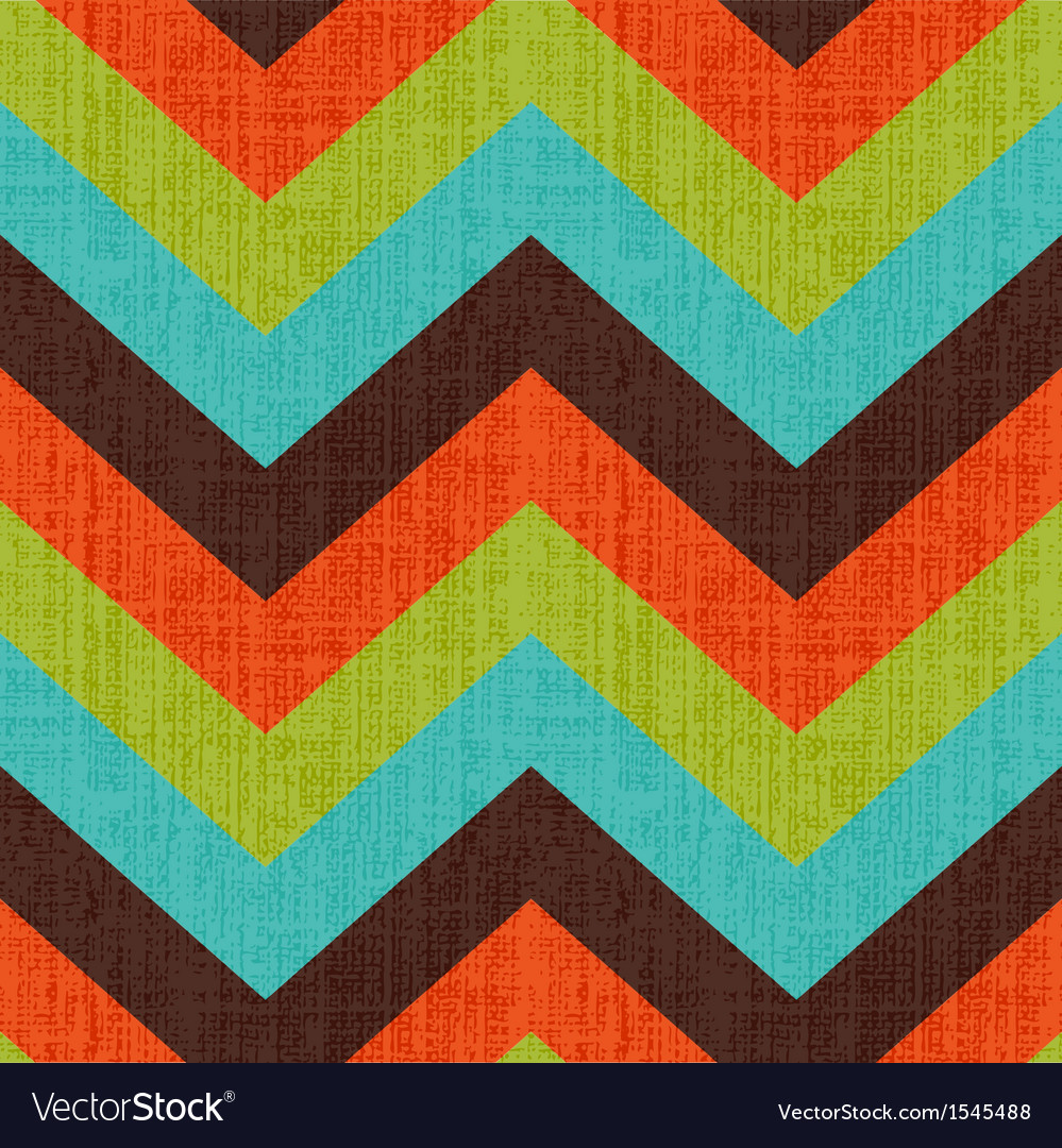 Seamless retro zig zag pattern vector | Price: 1 Credit (USD $1)