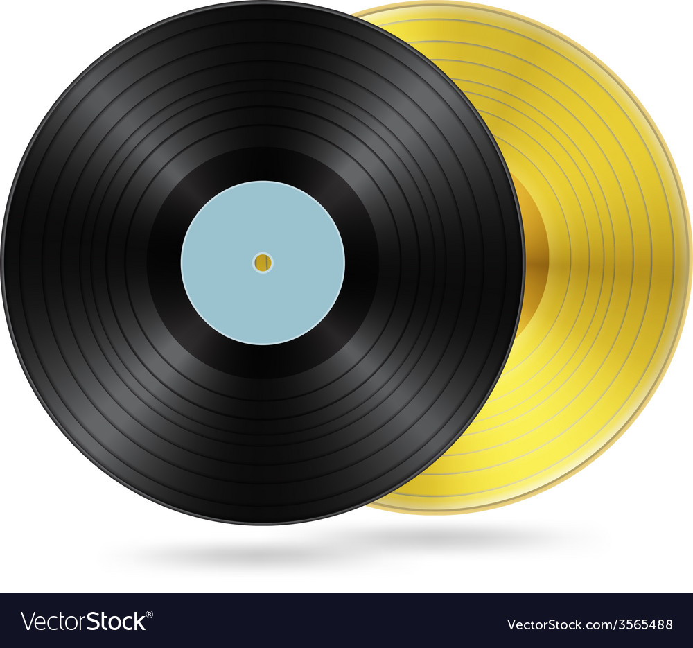 Two vynil discs vector | Price: 1 Credit (USD $1)