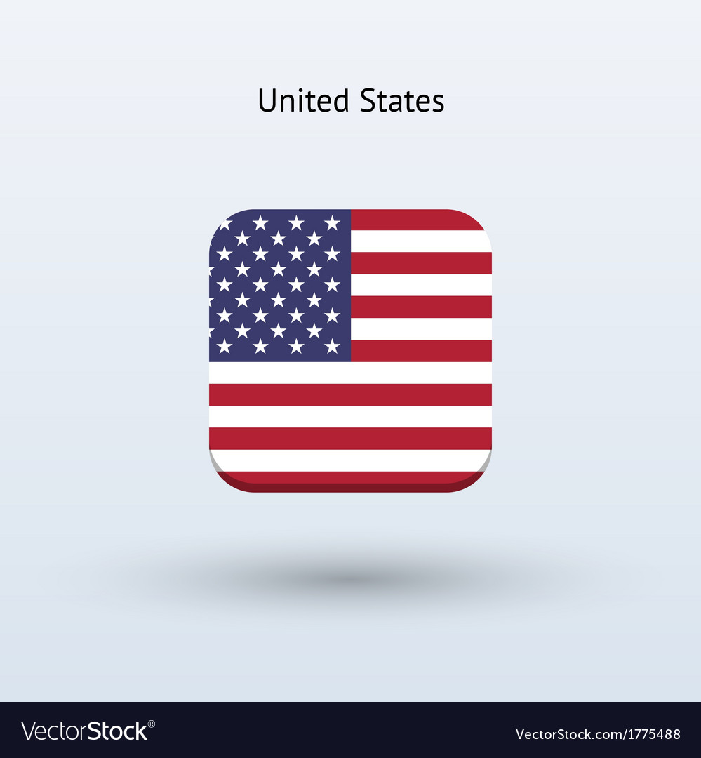 United states flag icon vector | Price: 1 Credit (USD $1)