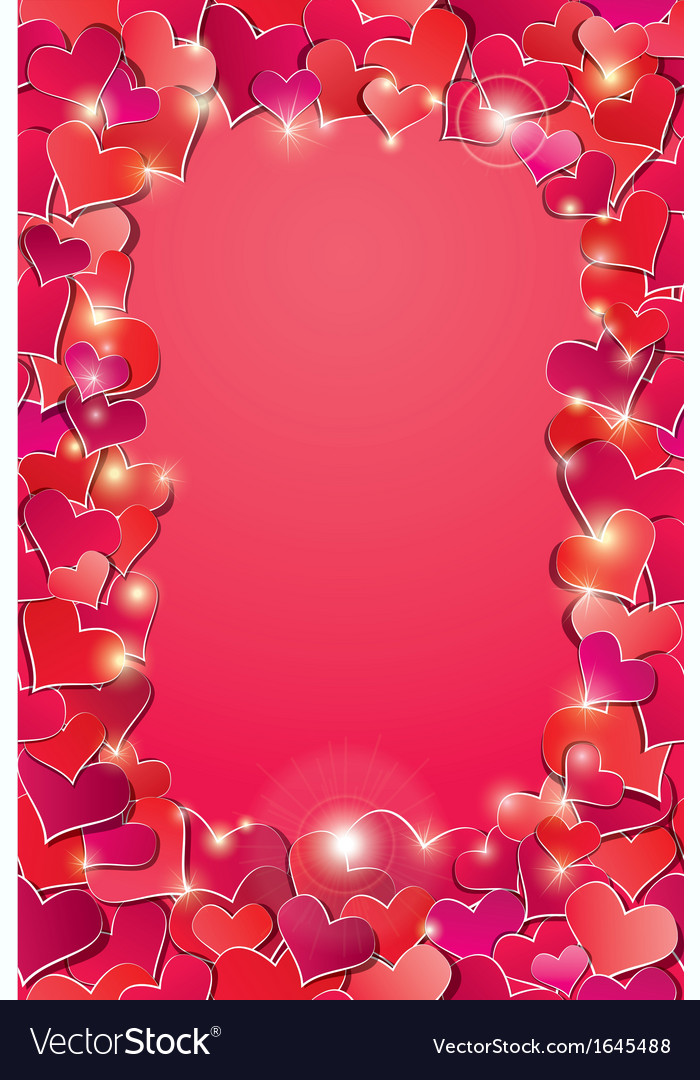 Valentines day or wedding background with red hear vector | Price: 1 Credit (USD $1)